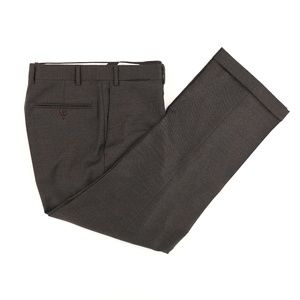 Canali Brown Label Wool Blend Dress Pants Taupe